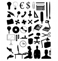 office subjects vector image vector image