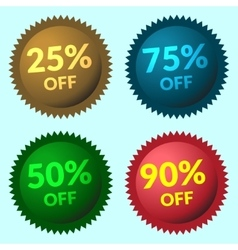 sale sign color vector image vector image