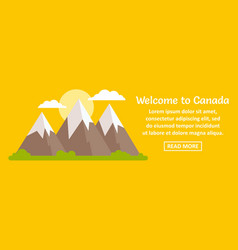 welcome to canada banner horizontal concept vector image