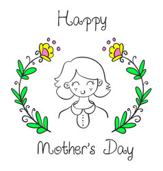 cute style mother day collection vector image vector image