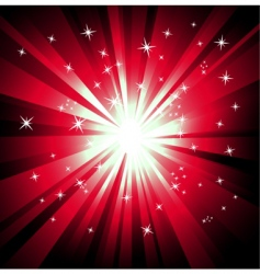 explosion of lights vector image vector image