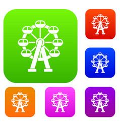 ferris wheel set collection vector image vector image