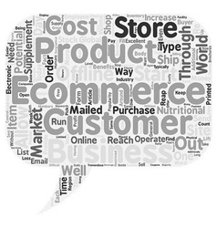 How To Start A Business Through Ecommerce text vector image