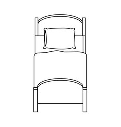 single bed icon vector image