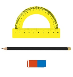 Stationery tools vector image vector image
