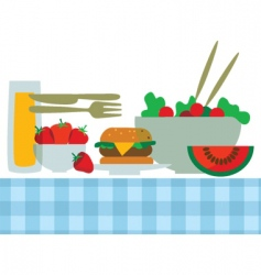 summer foods vector image vector image