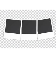 three Retro blank photography vector image