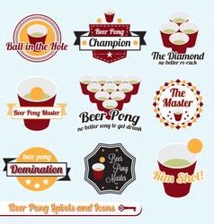 Beer Pong Labels vector image vector image