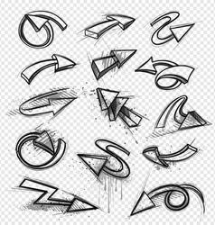 directional arrows set vector image vector image