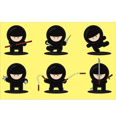 Gang of ninjas vector