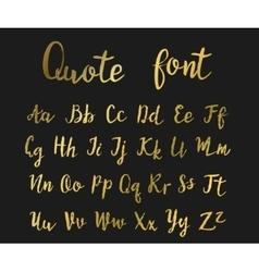 Hand drawn modern script vector image