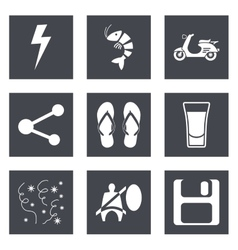 Icons for Web Design set 27 vector image vector image