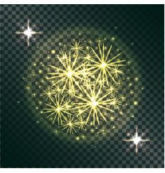 light effects of burning sparklers on transparent vector image