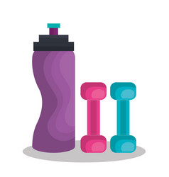 weight lifting lifestyle icons vector image