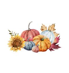 A watercolor card for thanksgiving vector
