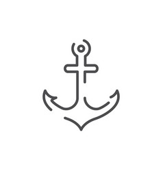 anchor graphic design template vector image