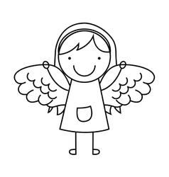 angel girl character icon vector image