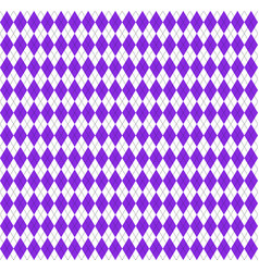 argyle plaid in proton purple colors vector image