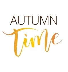 Autumn time hand written inscription vector image