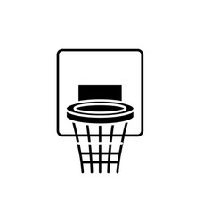 basketball basket black icon sign on vector image