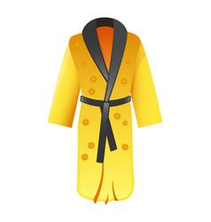 bathrobe icon flat of vector image