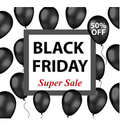 black friday promotional flyer poster invitation vector image