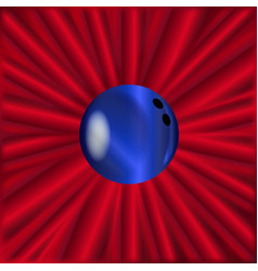 Bowling ball over red vector