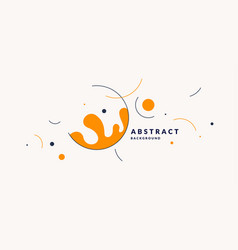 bright poster with splatter minimal vector image
