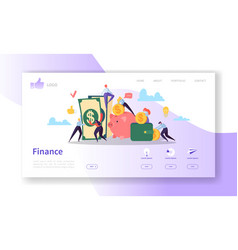 Business and finance landing page template website vector