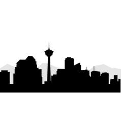 Calgary City sky line vector
