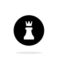 Chess Rook simple icon on white background vector