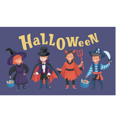 children in fairy costume vector image