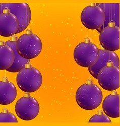 christmas template beautiful winter ornaments vector image