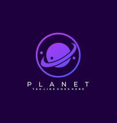 Circle planet template vector