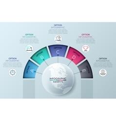 Circular infographic design template vector image
