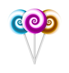 Color lollipops vector image