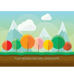 Colorful polygonal forest vector