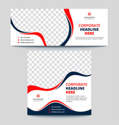 Corporate multipurpose social media banners vector