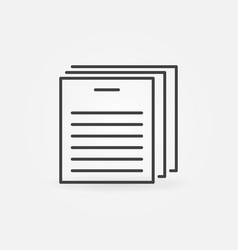 document line icon documents concept vector image