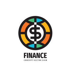 dollar money token - concept logo design finance vector image