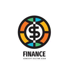 Dollar money token - concept logo design finance vector