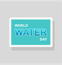 double exposure world water day greeting card vector image
