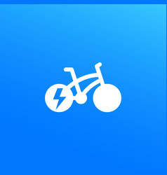 Electric bike bicycle icon vector