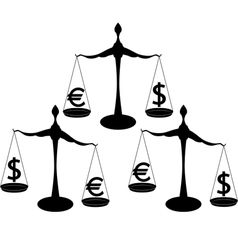 Euro dollar vector