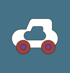 Flat icon design collection toy car vector