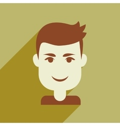 Flat web icon with long shadow mens haircut vector
