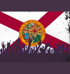 Florida state flag with audience vector