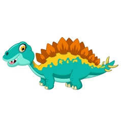 Funny stegosaurus cartoon vector