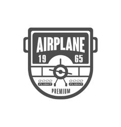 Good Flight Airplane Club Emblem Design vector image
