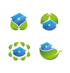 Green House Icons Set vector image